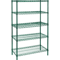 Green Epoxy Finish Wire Shelving | KLETON